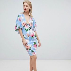 Blue and pink floral ASOS dress
